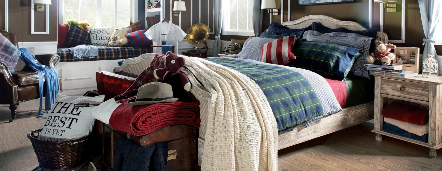 Country tarzında dekore edilmiş yatak odaları